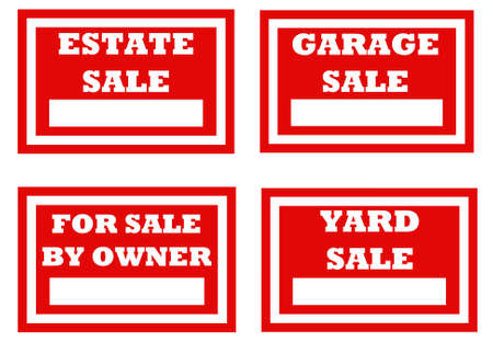for sale signs for homeowners to be used as indicated