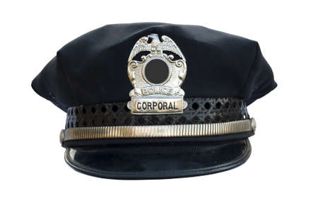 police hat on white with clipping path at original size