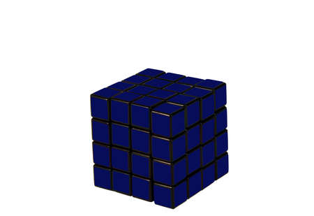 puzzle cube with all sides the same color with clipping path at original size