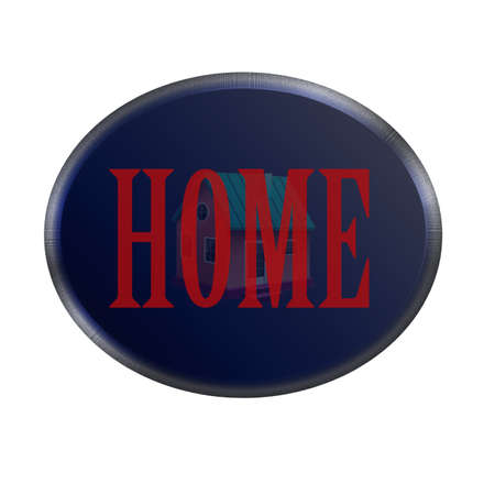 home button for the web with clipping path at original size