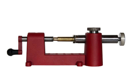 reloading: case trimmer and cartridge used for reloading ammunition with clipping path at original size