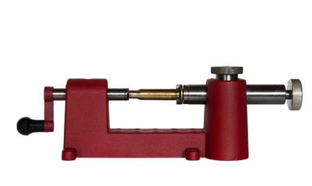 shorten: caso trimmer y cartucho usado para la recarga de munici�n con trazado de recorte en tama�o original
