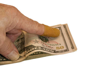 handlers: rubber finger protector used by currency handlers and other office personnel