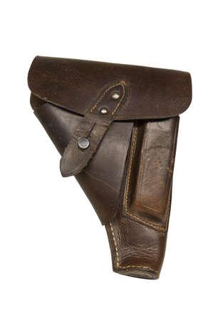 holster: Vintage Brown funda de cuero con en tama�o original