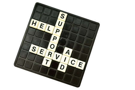 customer support crossword on white Stock Photo - 13269300