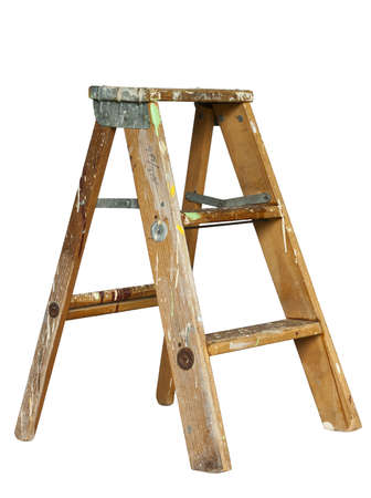 small stepladder isolated at original size