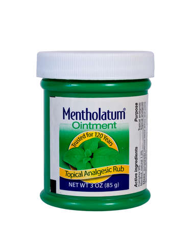 RIVER FALLS,WISCONSIN-JANUARY 29,2014: A jar of Mentholatum rub. The Mentholatum company was founded in 1889 and is an American maker of non-prescription health care products. Editorial