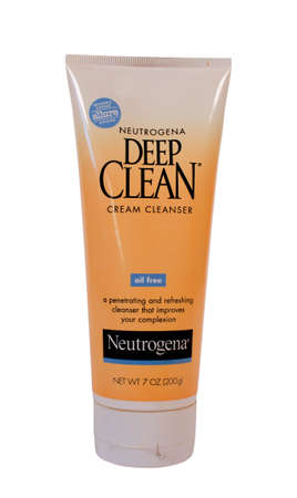 RIVER FALLS,WISCONSIN-JANUARY30,2014: A tube of Neutrogena skin cleanser. Neutrogena is an American brand of skin and hair care products. It is based in Los Angeles,California Editorial