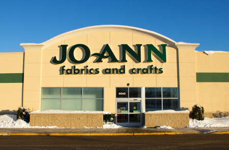 EAU CLAIRE,WISCONSIN-FEBRUARY 02,2014: Jo Ann Fabrics and Crafts storefront in a shopping mall on February 02,2014 in Eau Claire,Wisconsin. Editorial