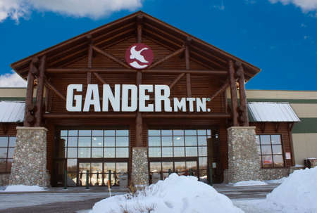 EAU CLAIRE,WISCONSIN-FEBRUARY 02,2014: Gander Mountain storefront in Eau Claire,Wisconsin on February 02,2014