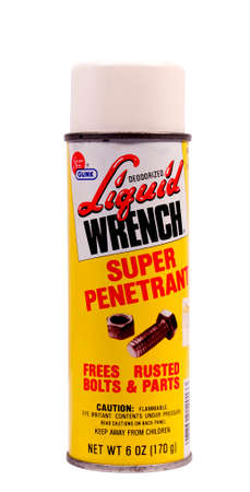 gunk: RIVER FALLS,WISCONSIN-FEBRUARY 22,2014: A can of Gunk Liquid Wrench. Liquid Wrench is made by RSC Chemical Solutions based in Charolette,North Carolina