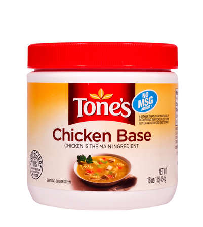 british foods: RIVER FALLS,WISCONSIN-FEBRUARY 23,2014: A container of Tones chicken base. Tones is a product of Associated British Foods of London. Editorial
