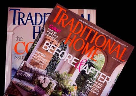 川の滝、ウィスコンシン-4 月 16, 2014: 伝統的なホーム マガジンの 2 つの問題。伝統的な家庭はアイオワ州デモインのメレディス株式会社刊、年に 8  報道画像