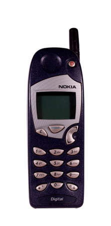 RIVER FALLS,WISCONSIN-JULY 21,2014: A vintage Nokia cell phone. Nokia Oys is a Finnish communications and information technology corporation. Editorial