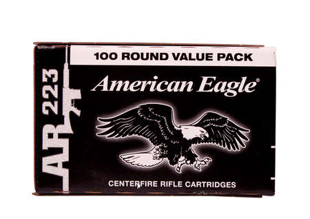american eagle: RIVER FALLS,WISCONSIN-AUGUST 21,2014: A box of American Eagle rifle ammunition. American Eagle is a product of Federal Premium Ammuniton of Anoka,Minnesota.