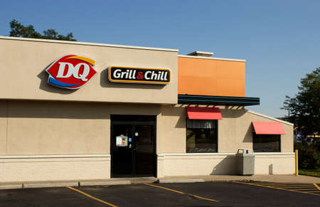 RIVER FALLS,WISCONSIN-SEPTEMBER20,2014: Dairy Queen Grill and Chill storefront. The first Dairy Queen restaurant opened in Joliet,Illinois in Nineteen Forty. Editöryel