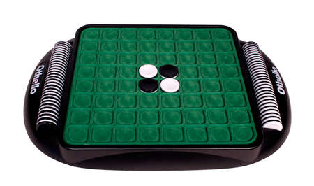othello: RIVER FALLS,WISCONSIN-NOVEMBER 2,2014: Othello game board. Othello is a product of Mattel Incorporated.