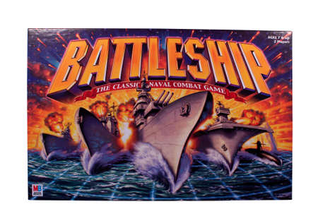 RIVER FALLS,WISCONSIN-NOVEMBER 9,2014: A Battleship board game by Milton Bradley. Battleship was released as a plastice board game in Nineteen Sixty Seven.