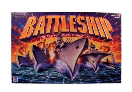 River Falls, Wisconsin-NOVEMBER 9,2014: Ein Schlachtschiff Brettspiel von Milton Bradley. Schlachtschiff wurde als plastice Brettspiel in Nineteen Sixty Seven veröffentlicht. Standard-Bild - 33435478