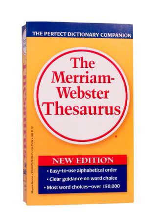 River Falls, Wisconsin-NOVEMBER 21,2014: De nieuwste editie van The Merriam-Webster Thesaurus.