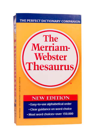 thesaurus: RIVER FALLS,WISCONSIN-NOVEMBER 21,2014: The latest edition of The Merriam-Webster Thesaurus. Editorial