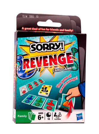 revenge: RIVER FALLS,WISCONSIN-DECEMBER 22,2014: Revenge card game from Hasbro. Hasbro Incorporated is one of the largest toy makers in the world. Editorial