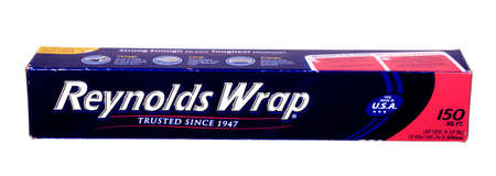 illustrative material: RIVER FALLS,WISCONSIN-JANUARY 23,2015: A box of Reynolds Wrap aluminum foil. This is a product of Reynolds Metals Company of Lincolnshire,Illinois.
