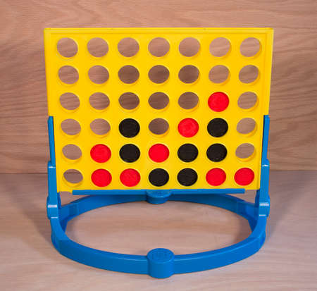 milton: RIVER FALLS,WISCONSIN-FEBRUARY 08,2015: A vintage Connect Four game by Milton Bradley. Milton Bradley is now a subsidiary of Hasbro.