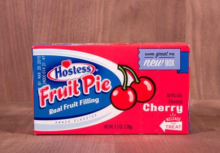 headquartered: RIVER FALLS,WISCONSIN-FEBRUARY 11,2015: A Hostess Cherry flavored fruit pie. Hostess Brands is headquartered in Kansas City,Missouri Editorial