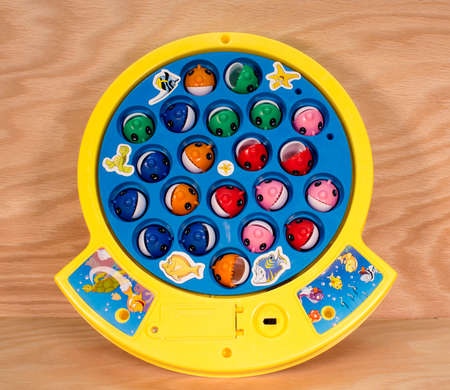 RIVER FALLS,WISCONSIN-MARCH 28,2015: A Let's Go Fishing game by Pressman Toy Company of New York City.