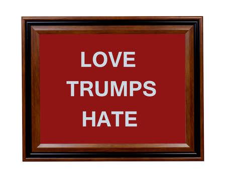 Een teken dat aangeeft dat de liefde wint altijd over haat.