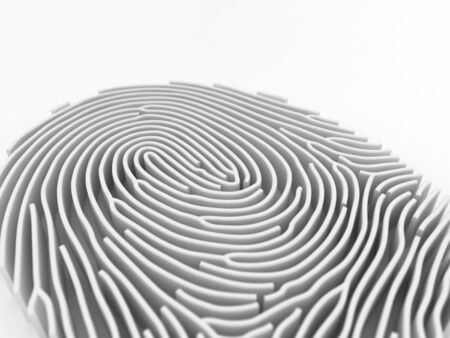 3D perspective ThumbPrint Stock Photo