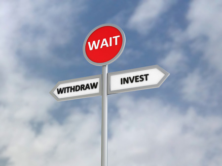 withdraw: Invest Withdraw Wait | Direction Sign