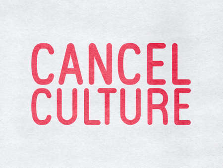 Cancel Culture - word on paper background 스톡 콘텐츠