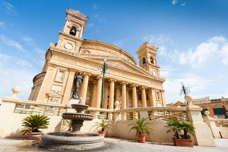 De Rotonde van Mosta is een rooms-katholieke kerk in Mosta, Malta Stockfoto
