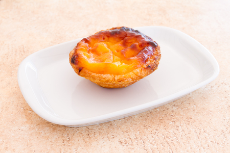 egg tart: Pastel de nata is a Portuguese egg tart pastry, common in Portugal, the Lusosphere countries and regions  They were mentioned by The Guardian as the 15th most tasty delicacy in the world