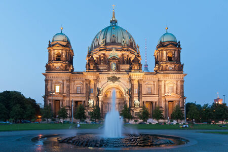 colloquial: BERLIN, GERMANY - AUGUST 26  Berliner Dom  Berlin cathedral  on August 26, 2011 in Berlin  Berlin Cathedral is the colloquial name for the Evangelical Supreme Parish and Collegiate Church  Editorial
