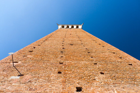 medioeval: The Torre del Mangia is a tower in Siena, in the Tuscany region of Italy Stock Photo