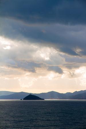 tyrrhenian: Elba island an Palmaiola on Tyrrhenian sea in Tuscany, Italy