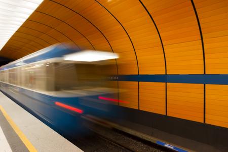 u bahn: Marienplatz underground station in Munich, Germany
