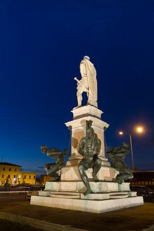 mori: The Monumento dei quattro mori (\Monument of the Four Moors\) in Leghorn, Tuscany.