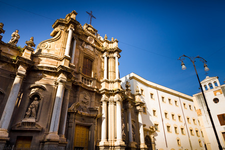 palermo   italy: Baroque church in Palermo Italy