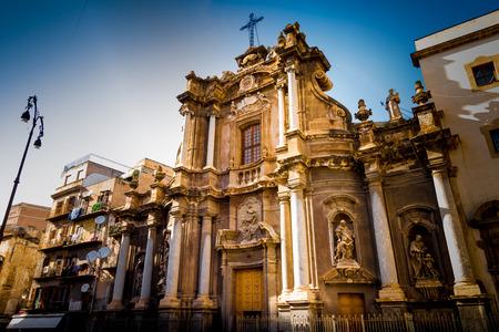 cosa: Baroque Church in Palermo Italy