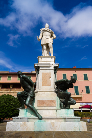 moors: Leghorn, Italy - June 22, 2015: The Monument of the Four Moors