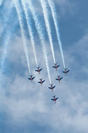 intrepid: Rome, Italy - May 25, 2008: Patrouille Acrobatique de France show Editorial