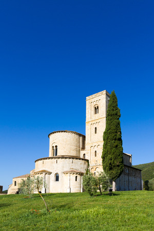orcia: SantAntimo Abbey near Montalcino in Tuscany