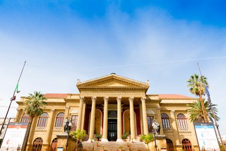 palermo   italy: Teatro Massimo Vittorio Emanuele in Palermo, Italy