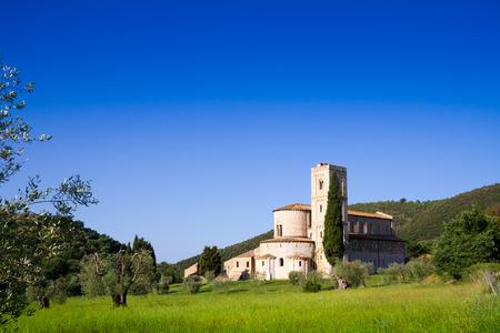antimo: SantAntimo Abbey near Montalcino in Tuscany