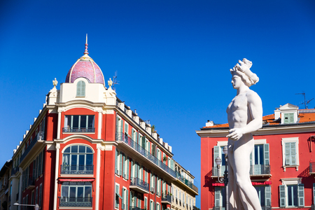 Massena place in Nice, France Editorial