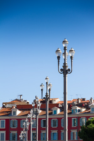 nice france: Massena place in Nice, France Editorial